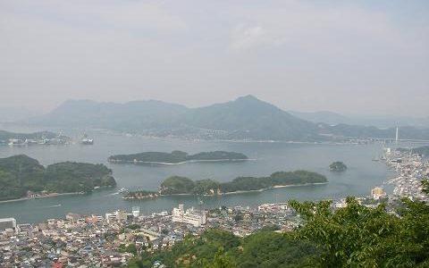 【因島】島の南部にある「天狗山」から眺める瀬戸内海の景色に癒やされます